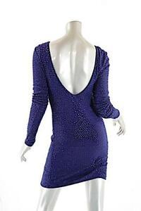 Gebreide SequinsNwtSz Blend jurk met S600 Rayon kralen Yoyo Yeung Kobaltblauw 9IH2EWDY