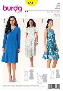 Burda-Style-Schnittmuster-Kleid-Sommerkleider-tailliert-Nr-6821
