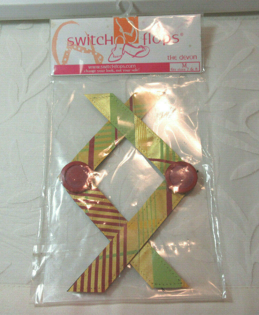Lindsay Phillips SwitchFlops 7-8 Medium *Devon* Interchangeable Straps