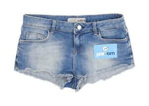 Womens-Topshop-Blue-Denim-Shorts-Size-10-L2