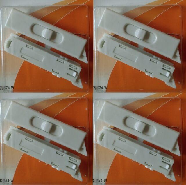 ea Slide-Co 173974-W  2 Pack White Vinyl Window Tilt Replacement Latches 4