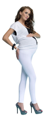 New Comfy MATERNITY Cotton Front Panel Full Ankle Length Leggings UK 6-18