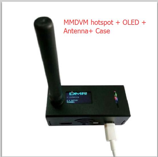 UHF/VHF MMDVM hotspot OLED+ Antenna+ Case Support P25 DMR YSF for Raspberry pi