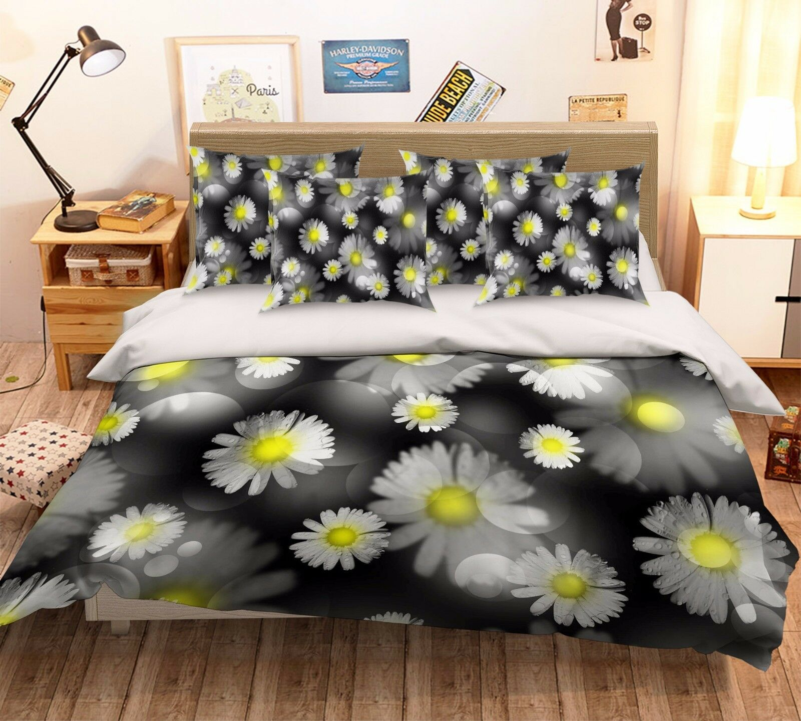 3D Flowers 231 Bed Pillowcases Quilt Duvet Cover Set Single Queen King Größe AU