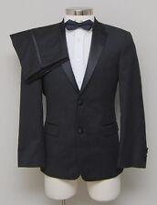 NWT Mens 36S Tommy Hilfiger 2 Piece Black 100% Wool Tuxedo