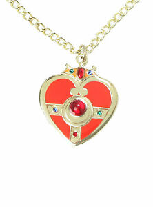 NEW SAILOR MOON RED GOLD TONED COSMIC HEART Pendant Necklace