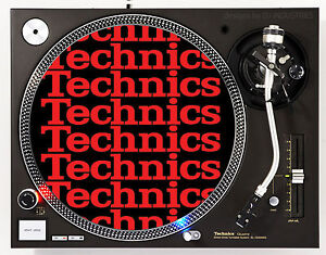 TECHNICS COLLAGE RED - DJ SLIPMATS (1 PAIR) 1200's MK5 MK2 or any turntable