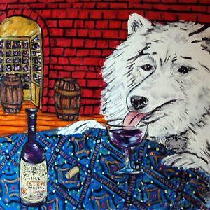 great dane wine art print tile coaster gift modern folk JSCHMETZ dog