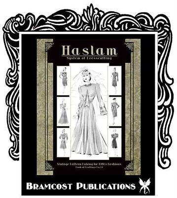 1940s Haslam Pattern Making Book 19 (Vintage Sewing Drafting Weddiing Gown)