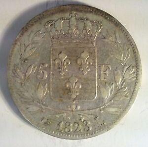 FRANCE-LOUIS-XVIII-5-FRANCS-1823-L-TTB-F-n-309-81