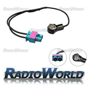 Audi-Volkswagen-Dual-Twin-Double-Fakra-ISO-Aerial-Adaptor-Adapter-Antenna