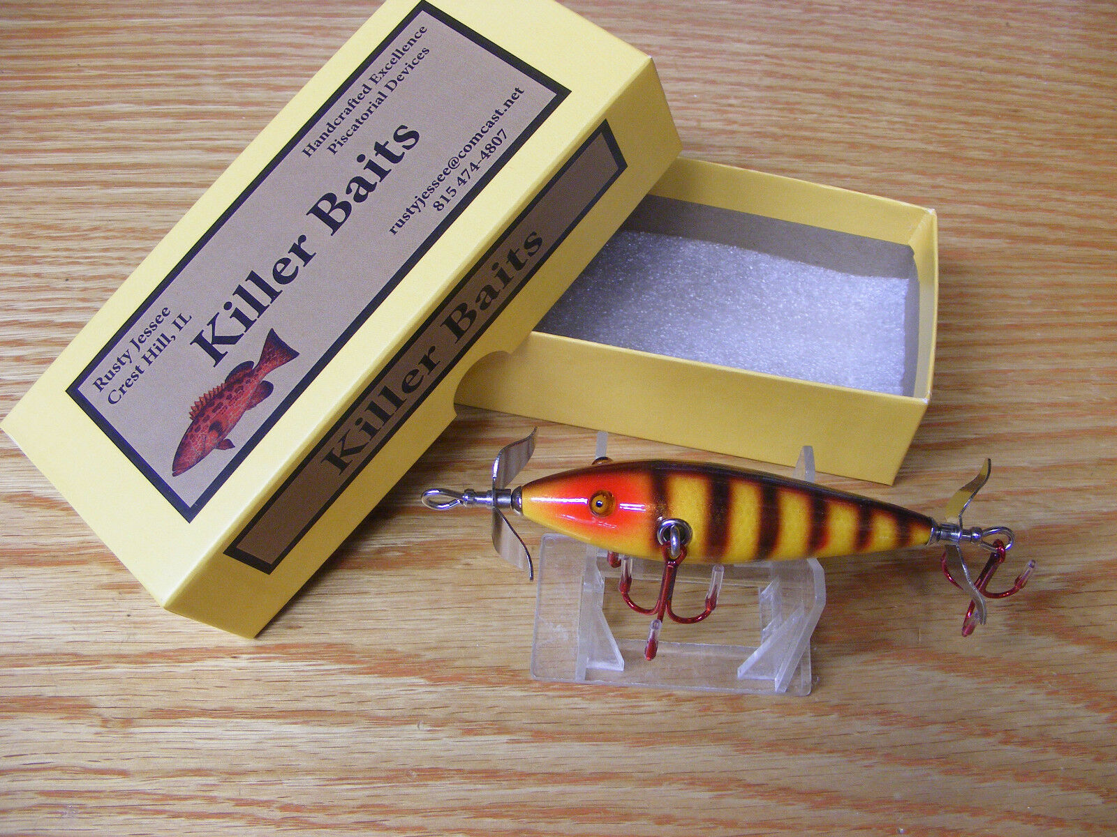 Killer Baits  Rusty Jessee Heddon 100 Little Sac Style Glasseye in Natural Scale  incentive promotionals