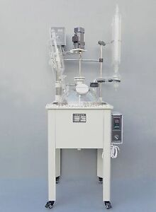 20L-Single-deck-Glass-Chemical-Reactor-Chemistry-Reacting-Vessel-w-Water-Bath