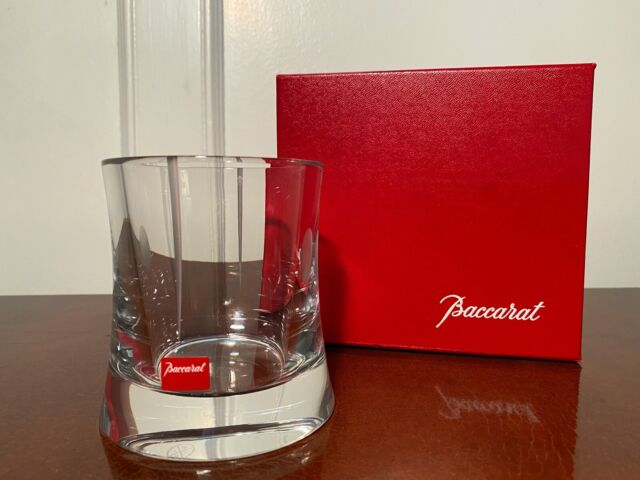 New in Box Signed BACCARAT CRYSTAL Tranquility Pattern Pencil Pen Holder/Vase