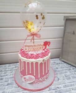 BALLOON-CAKE-TOPPER-GOLD-PINK-CONFETTI-WEDDING-PARTY-BIRTHDAY-BABY-DESSERTS