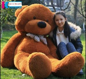 Giant-63-039-039-Big-Brown-Teddy-Bear-Huge-Stuffed-Animals-Plush-Soft-Toys-Doll-Gift