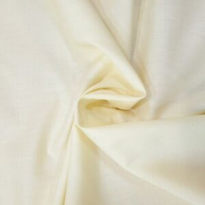 Cream Poly Cotton Fabric width 1.12m sold by the metre by Fabric Land