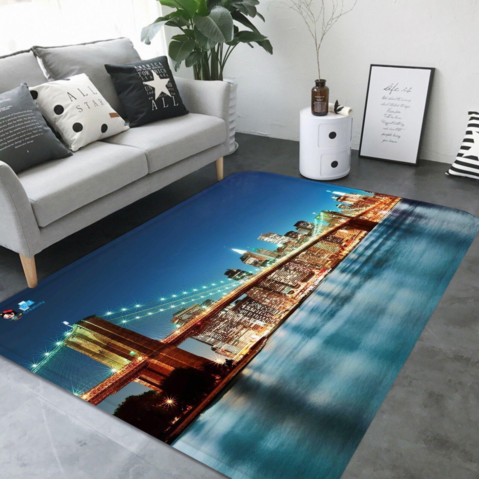 3D Bridge 03 tappetino antiscivolo tappeto camera Tappetino Qualità Elegante foto Tappeto UK Estate