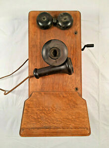 Vintage Wooden Crank Phone 20163 Kellogg Switchboard & Supply F2811