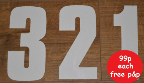 "Sticky Numbers 7/"" High Self Adhesive White Sticker Wheelie Bin Numbers"