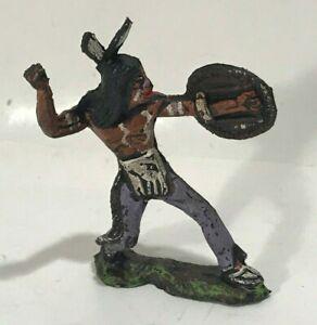 INDIANO con lancia soldatino XILOPLASTO PVC gomma cromoplasto tipo landi nardi