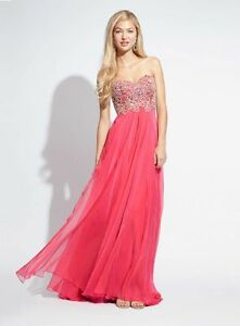 140af327fa9a Image is loading Jovani-Blush-Strapless-Embellished-Floor-Length-Prom-Dress-