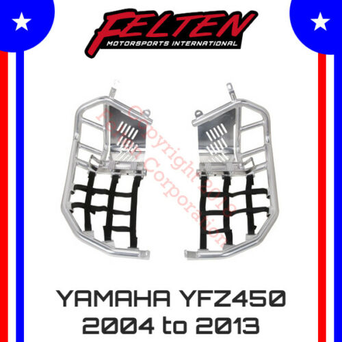 Yamaha YFZ450 Foot Pegs Nerf Bars w/ Heel Guards YFZ 450 SE Webbing Heal 04-13