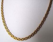 collier bijou chaîne vintage maille vénitienne plaqué or légère superbe 592