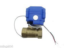 """Motorkugelhahn Ventil motorized ball valve12V,3/4"""" DN20(reduce port) CR04"""