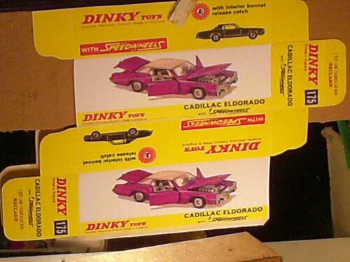 DINKY TOYS 1969 REPLIQUE BOITE CADILLAC ELDORADO