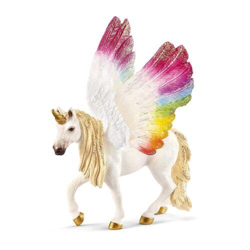 SCHLEICH alato della mitologia greca Arcobaleno Unicorno 70576 Cavallo PEGASUS NUOVO