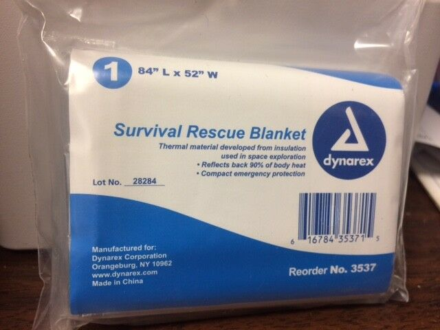 DYNAREX SURVIVAL RESCUE BLANKET FIRST AID NO. 3537
