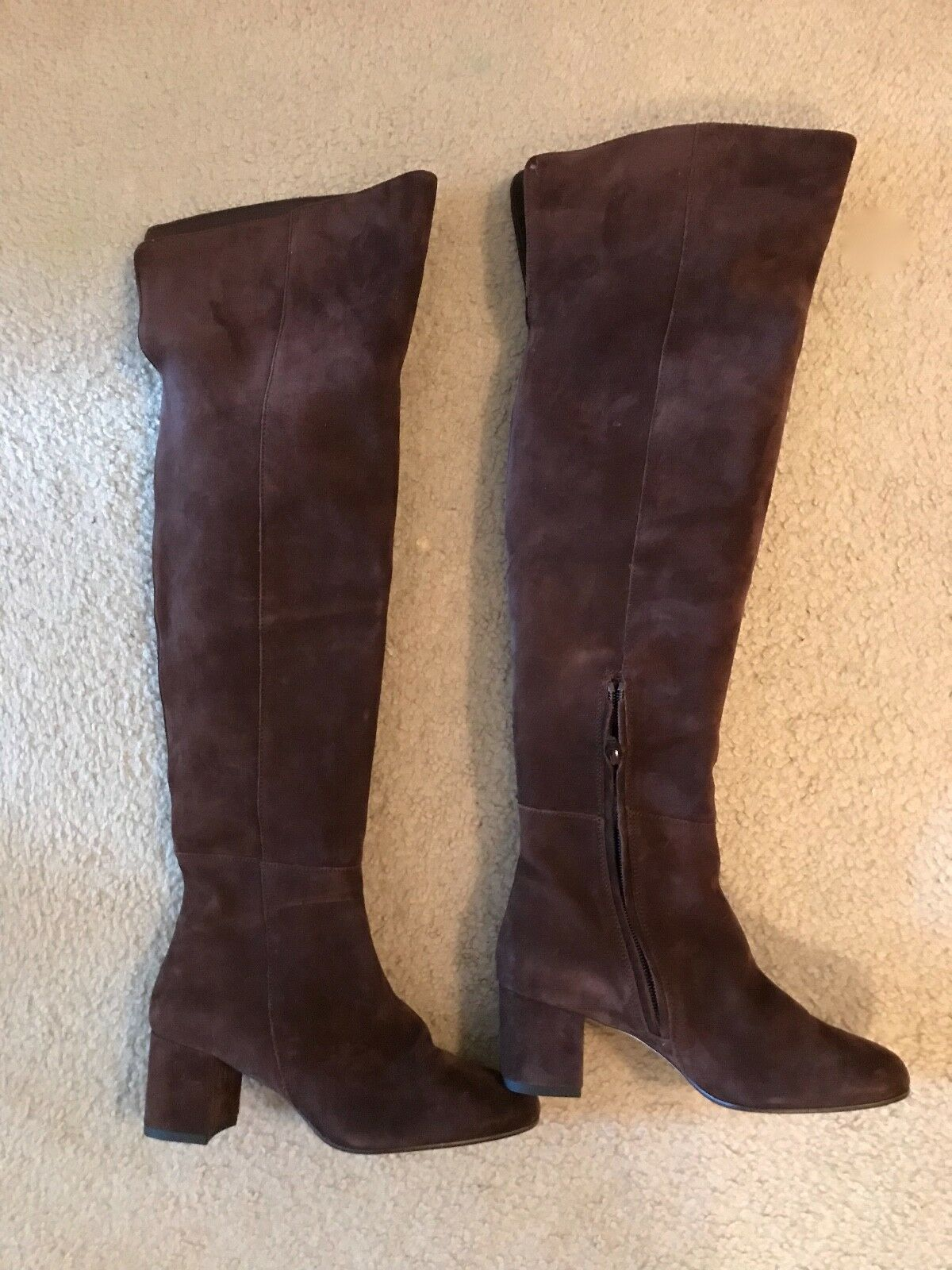 J.CREW SUEDE OVER-THE-KNEE BOOTS SIZE 5,5M DEEP MAPLE F8009