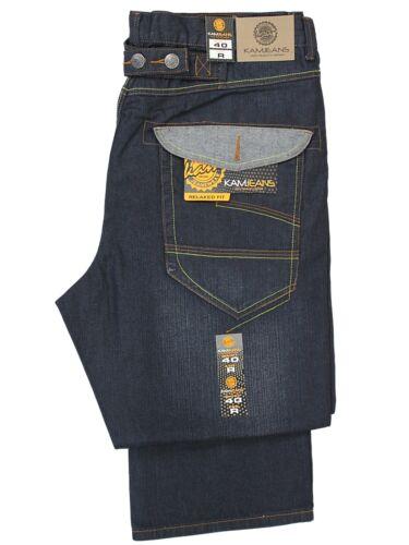 BNWT Da Uomo Kam Big King Size Jeans moda semplice elegante patta tasca TG 40-60