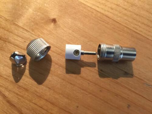 TV Kabel SET. 8 x Koax Stecker 8 x Koaxial Kupplung Antennenstecker IEC Metall