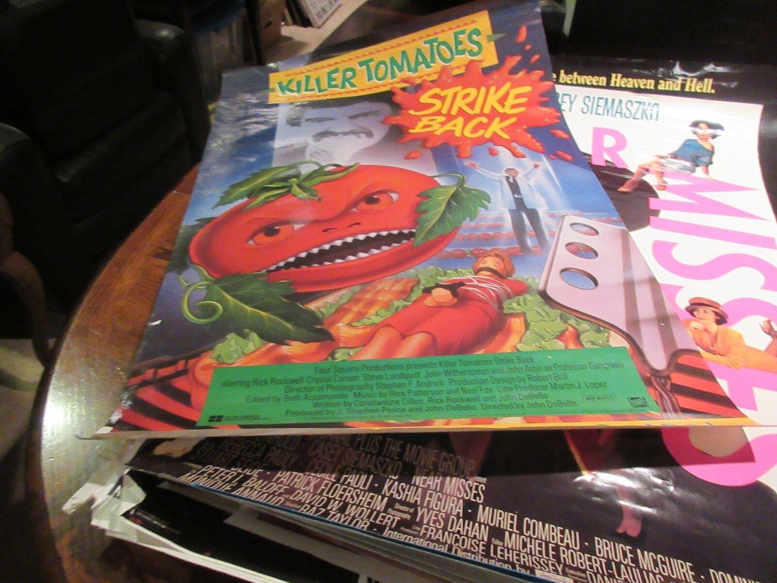 """KIller Tomotoes Strick Back , POSTER , 1990 , 38"""" X 25"""