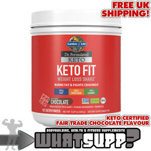 Garden of Life KETO FIT WEIGHT LOSS SHAKE Dr Formulated Chocolate 365g Burns Fat