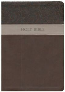 KJV-Large-Print-Wide-Margin-Bible-Imitation-Leather-Brown