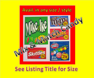 12-2-5-x-2-5-Vinyl-Peel-amp-Stick-VENDING-candy-labels-WITH-PRICE