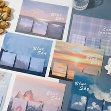 Cute Sky Memo Pads School Office Stationeries Sticky Notes Paper Message Planner