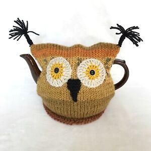 Owl-Knitted-Tea-Cosy-Handmade-Raising-money-for-E-Sussex-Wildlife-Rescue