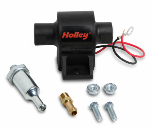 Holley 25 GPH Mighty Mite 12 Volt Electric Fuel Pump 1.5-4 PSI Gas Diesel E85
