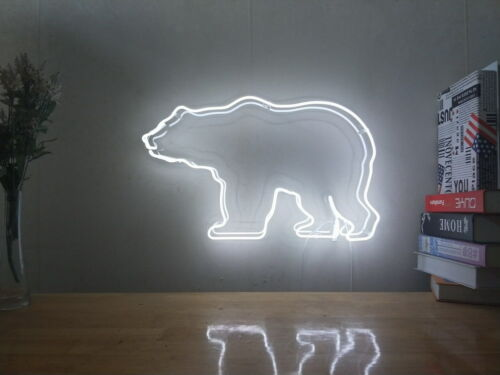New Polar Bear Sea Bear Neon Sign For Bedroom Wall Home Decor Art With Dimmer