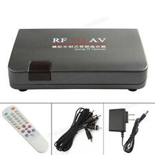 RF to AV Analog TV Receiver Box Video Converter Adapter without Location Limited