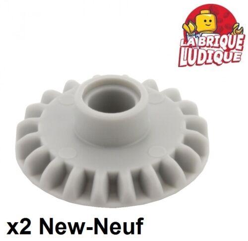 Lego Technic 2x Zahnrad Ritzel Getriebe 20 Tooth Light Bluish Gray 87407 Neu