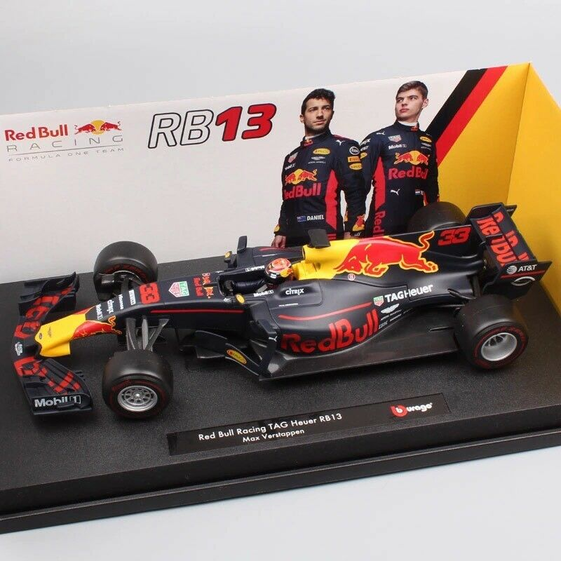 1   18 skala 2017 f1 - formel - 1 - rot bull racing rb13 no.33 max verstappen auto - modell