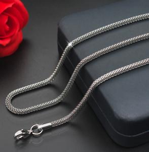 feine-Silberkette-Koenigskette-60cm-Edelstahl-Panzerkette-Damen-Herren-Halskette