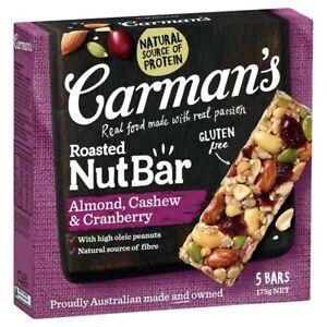 Carman's Almond Cashew & Cranberry Nut Bars 175g