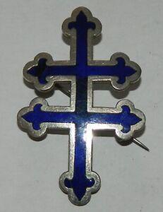 jolie croix de Lorraine émaillée