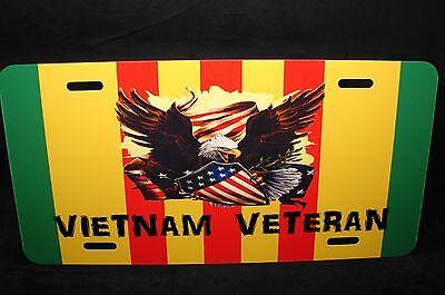 VIETNAM VETERAN RIBBON METAL NOVELTYCAR LICENSE PLATE TAG VIETNAM WAR